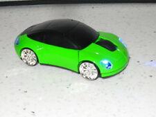 Porsche 2017 sans fil voiture souris noir vert orange argent avec lumières rapide post