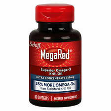 Schiff MegaRed Omega-3 Krill Oil, Ultra Concentrate 750 mg., 80 Softgels *VALUE*