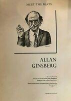 "R. CRUMB - ""ALLAN GINSBERG"" MEET THE BEATS POSTER 1985 100 NUMBERED COPIES"