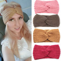 Women Winter Warm Turban Knitted Headwrap Bow Knot Headband Hair Head Band