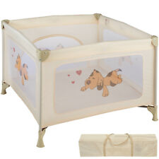 Parque para bebé cuna infantil de viaje portátil altura ajustable beige