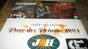 Johnny Hallyday-Coffret Double vinyles 33T-Parc des princes 1993-Sous cello
