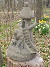 "Vtg 14"" Tal Cement Sand Castle Fountain Topper Garden Weathered Concrete Statue"