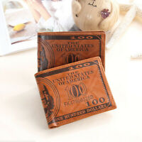Men's wallet US dollar printing PU leather credit card photo holder p NT