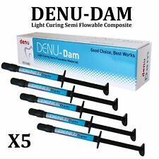 5x Dental Denu Dam Gingival Barrier Light Curing Composite Teeth Whitening 1.2ml