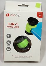 Olloclip 3 in 1 Photo Lens For iPhone 5c Green New