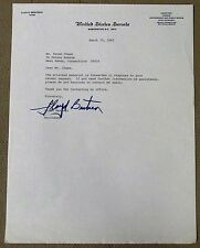 "LLOYD BENTSEN {1921-2006} Texas Senator Signed Letter: ""Your no Jack Kennedy"""