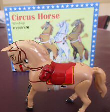 TIN CIRCUS HORSE WIND UP 10CM  MODEL OF YESTERYEAR NEW IN BOX