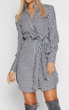 Checked Hand-wash Only Shirt Dresses