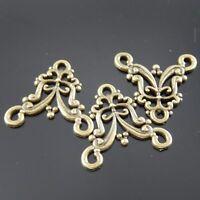 10 pcs Antiqued Bronze Alloy Floral Pendants 16x12mm Jewelry Connectors 31395