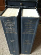 THE COMPACT EDITION OF THE OXFORD ENGLISH DICTIONARY IN ORIGINAL CASE 1979