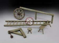 Royal Model 1/35 Farm Accessories Set (Wheel Hoe,Ladder,Pulley,Bench,Stool) 642