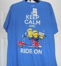 MINIONS Keep Calm Minion Movie Graphic Men's Mens L T-Shirt NEW WITH TAGS