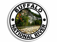 "4"" BUFFALO NATIONAL PARK HELMET BUMPER STICKER DECAL USA MADE"