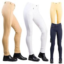 Joy Rider Ladies Women Strong Core Horse Riding Plain Knitted Jodhpurs All Sizes