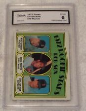 1972 TOPPS RED SOX ROOKIE STARS- GARMAN/FISK/COOPER- CARD #79- GRADED 6 EX-NM!!
