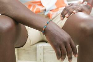 Rudraksha Beads Bracelet with Gemstone Bracelets for Men Handmade