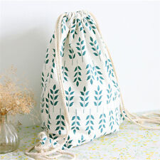Canvas Shoes Bag Portable Travel Storage Pouch Drawstring Dust Bag GYM Backpack