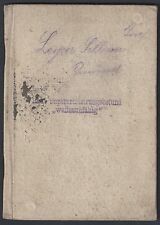 AUSTRIA 1930 AUSTRIAN ARMY PASSPORT FOR JOSEPH LEYRER POST WWI BEFORE THE OCCUPA