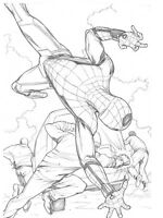 Spider-Man Homecoming: Mayhem at the Monument Original Spider-Man Art SPLASH