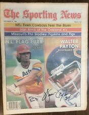 Walter Payton Signed Sporting News 1980 Chicago Bears