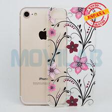 Funda carcasa gel / TPU Apple Iphone 7 / 8 transparente dibujos Flores