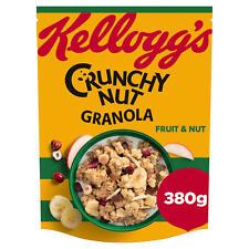 Kellogg's Crunchy Nut Granola Fruit & Nut 380g. Breakfast Cereal. Vegetarian.