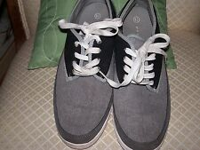Franco Vanucci Mens Low Top Grey Lace Up Tennis Shoe Sneakers Size 9.5