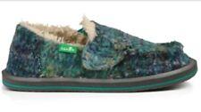 NEW SANUK Meltaway Chill Girls Slip-on Shoes in Ocean blue multi Kid/Youth 12 US