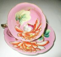 Vintage Occupied Japan Porcelain Footed Cup & Saucer with Slight Flaw