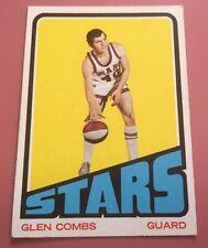 GLEN COMBS 1972-73 TOPPS BASKETBALL CARD #194 • UTAH STARS ABA • NO CREASES