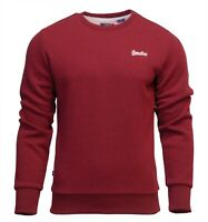 Superdry Mens New Orange Label Crew Neck Sweatshirt Pullover Long Sleeve Red