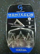 3 Pack G 5 Outdoors Montec Pre-Season 100 Grain 1-1//16-Inch Cut Practice Broadheads