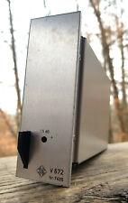 Vintage single Telefunken V672 discrete studio preamp later V72 follower