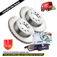 PEUGEOT 206 1.6L 2.0L 266mm[Thick 22mm] 10/01-06/07 FRONT Disc Rotors & EuroPads