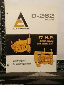 Allis Chalmers  Model D - 262 77 H.P. Diesel Engine Trifold Brochure