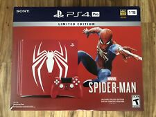 *New* Sony PlayStation PS4 Pro 1TB Limited Edition Spider-Man Red Console Bundle