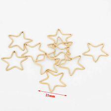 10pcs Gold Tone Stainless Steel Stars Connectors for DIY Jewelry Findings