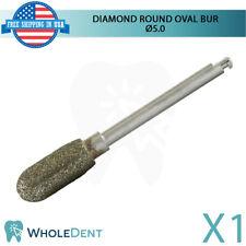Diamond Bone Shape Amp Cutting Surgical Round Oval Head Bur 5mm Dental Implant