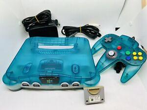 Nintendo 64 N64 Ice Blue Clear Console OEM Game Working Aus Pal NUS-001(EUR)