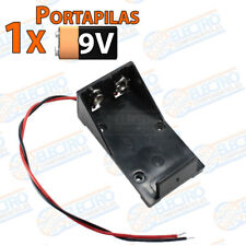 PORTAPILAS 9v con cable alimentacion PCB battery holder