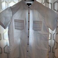 Men's INC international concepts short sleeve Light Blue Button Up Shirt XLarge