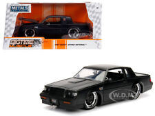 1987 BUICK GRAND NATIONAL MATTE BLACK 1/24 DIECAST MODEL CAR BY JADA 30342