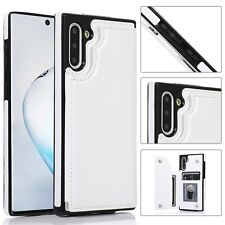 For Samsung Galaxy Note 10 Plus Leather Card Holder Stand Shockproof Cover Case