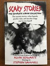 LN RARE Scary Stories to Tell in the Dark Box Set Schwartz Gammell Harper Trophy