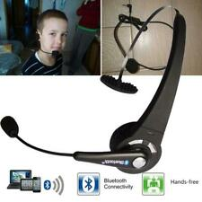 Wireless Bluetooth Handsfree w/ Boom Mic Headset Headphone Over The Head for Ps3