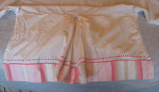 Pottery Barn Kids - Crib Dust Ruffle - White with Pink and Taupe Stripes [#459]