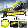"7"" 18W LED Work Light Bar Spot Suv ATV Boat Driving Fog Lamp 4WD Offroad Yellow~"