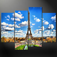 PARIS EIFFEL TOWER CANVAS PRINT PICTURE WALL ART FREE FAST DELIVERY 32 X 24 INCH