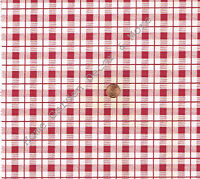 Red White Plaid Gingham Check Vinyl Contact Paper Shelf Liner Drawer Peel Stick
